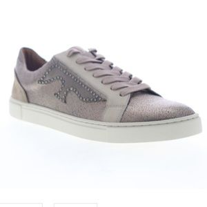Frye IVY Logo Patch Leather Sneakers Size 6M